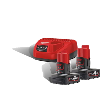 Milwaukee M12 NRG-402 4.0Ah batterisett